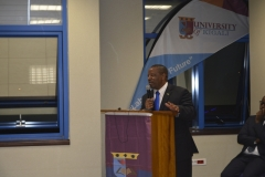 Governor giving speech at Musanze campus